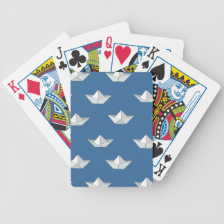 Origami Boats On The Water Pattern Bicycle Playing Cards