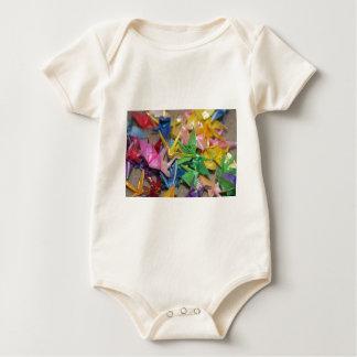 origami cranes baby bodysuit