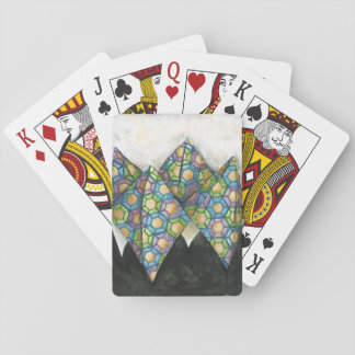 Origami Fortune Teller on Geometric Paper Playing Cards