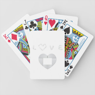 Origami love bicycle playing cards