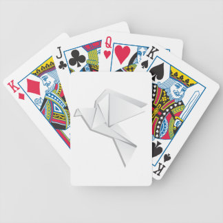 Origami pigeon bicycle playing cards