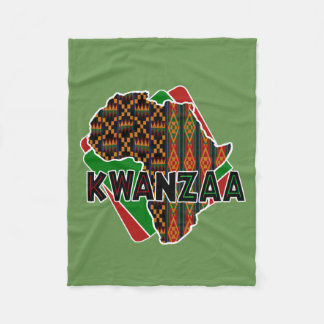 Origin Kwanzaa Fleece Blanket