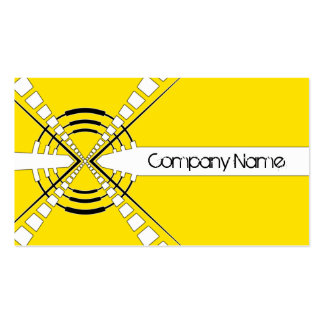 original abstract speaker design yellow pack of standard business cards