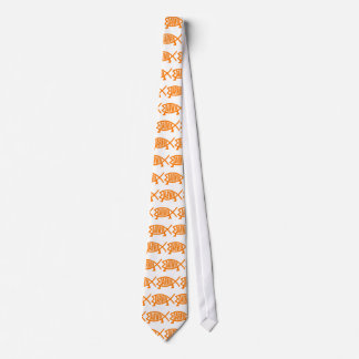 Original Darwin Fish (Light Orange) Tie