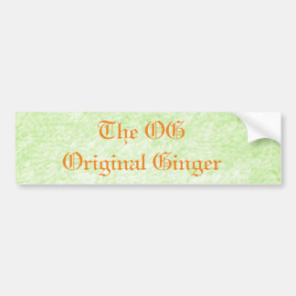 Original Ginger Bumper Sticker