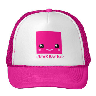 Original iamkawaii® Cute Girls Cap-Neon Pink Cap