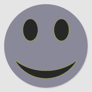 Original Lavender Smiley Face Stickers