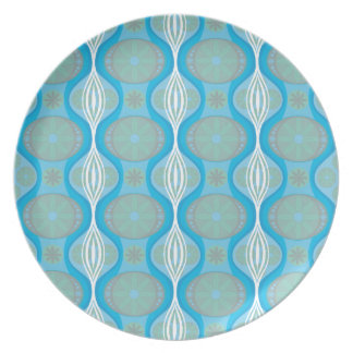 original Retro Daisy pattern in Blue Plates