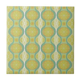 Original Retro Daisy pattern in Green Tile