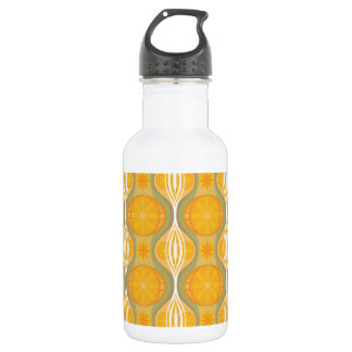 Original Retro Daisy pattern in Orange 532 Ml Water Bottle