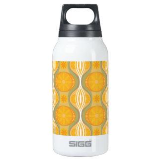 Original Retro Daisy pattern in Orange Insulated Water Bottle