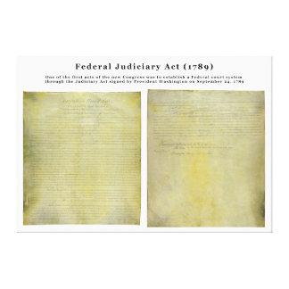 ORIGINAL United States Judiciary Act of 1789 Canvas Print