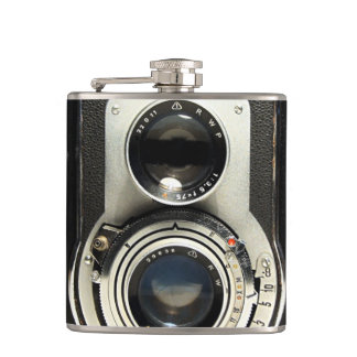 Original vintage camera hip flask
