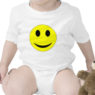 Original Yellow Smiley Face Baby Bodysuit