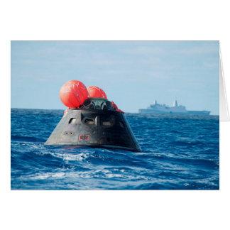 Orion capsule splash down EFT-1 mission Card