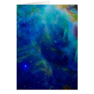 Orion Nebula cosmic galaxy space universe Card