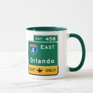 Orlando, FL Road Sign Mug