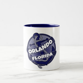 Orlando Florida anchor swirl coffee mug