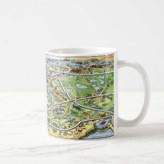 Orlando Florida Cartoon Map Coffee Mug