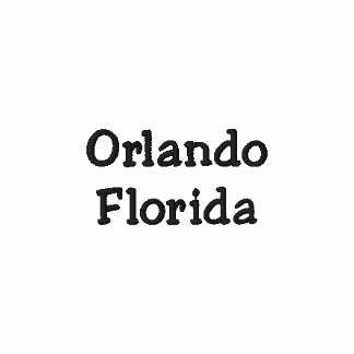 Orlando Florida FL Shirt - Customizable !!! Embroidered Shirt