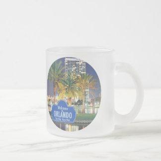 Orlando Florida Frosted Glass Coffee Mug