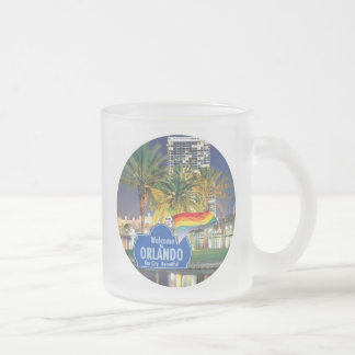 Orlando Florida Frosted Glass Coffee Mug