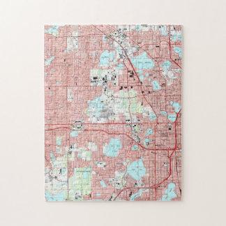 Orlando Florida Map (1995) Jigsaw Puzzle