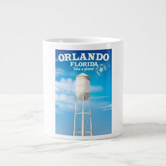 Orlando, Florida Water Tower travel print. Large Coffee Mug