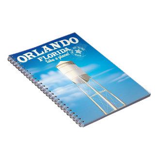Orlando, Florida Water Tower travel print. Notebooks
