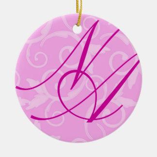Ornament - Girly Swirl Monogram