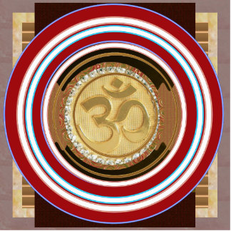 ORNAMENT OM MANTRA Spiritual Yoga Meditation Chant Photo Sculpture Decoration