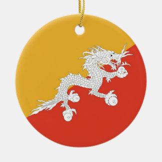 Ornament with flag of Bhutan