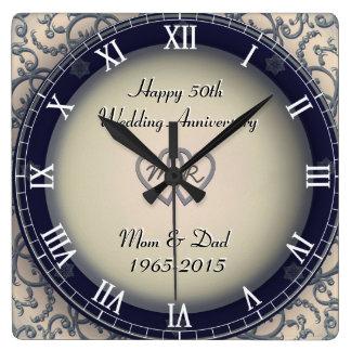 Ornamental Wedding Anniversary Wall Clock