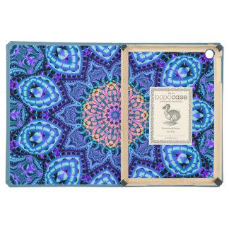 Ornate Blue Flower Vibrations Kaleidoscope Art iPad Air Case