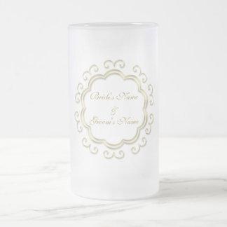 Ornate Bride and Groom Wedding Celebration Mug