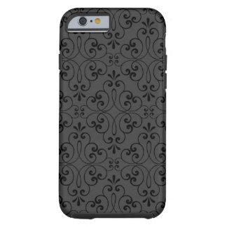 Ornate damask decorative black grey iPhone 6 case Tough iPhone 6 Case
