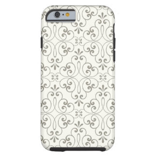Ornate damask decorative grey cream iPhone 6 case Tough iPhone 6 Case