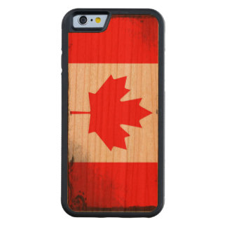 Ornate Flag of Canada Carved Cherry iPhone 6 Bumper Case