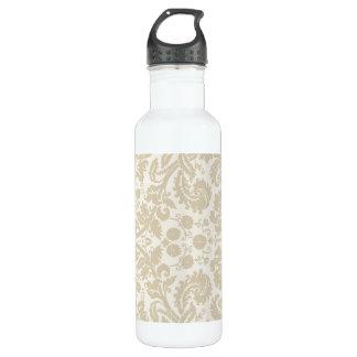 Ornate floral art nouveau pattern beige 710 ml water bottle