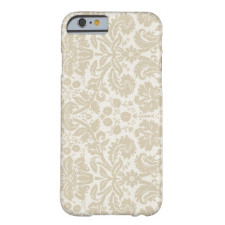 Ornate floral art nouveau pattern beige barely there iPhone 6 case