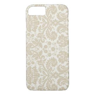 Ornate floral art nouveau pattern beige iPhone 7 case