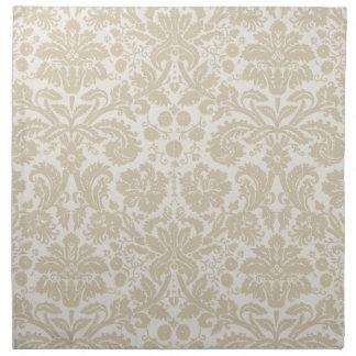 Ornate floral art nouveau pattern beige napkins