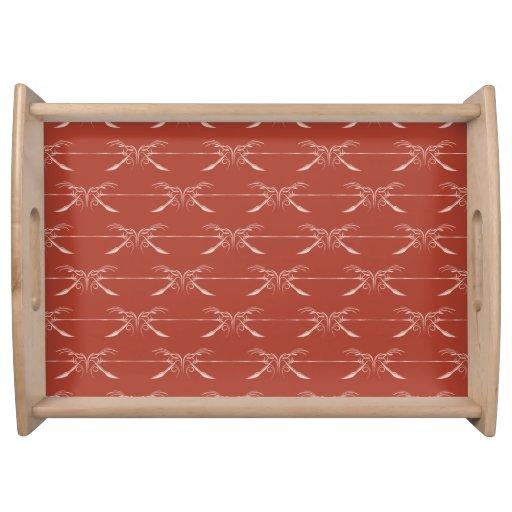 Ornate Pattern reds Food Tray
