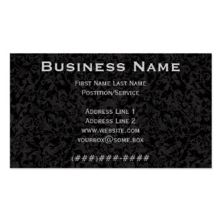 Ornate Pitch Black Business Card Template