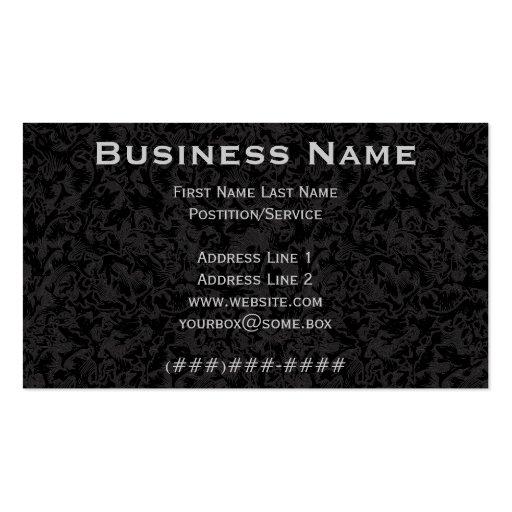 Ornate Pitch Black Business Card Template