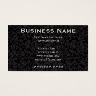 Ornate Pitch Black Business Card