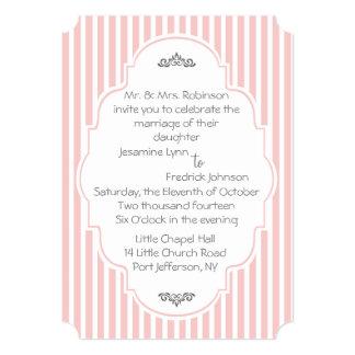 Ornate Stripes in Rose Quartz Wedding Invitation