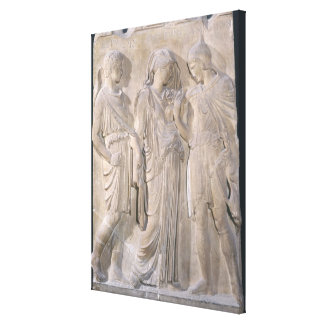 Orpheus, Eurydice and Hermes Canvas Print
