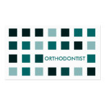 ORTHODONTIST (mod squares) Pack Of Standard Business Cards