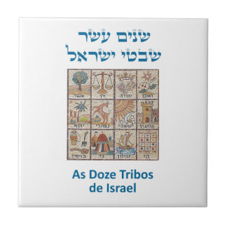 Os Brasões das Doze Tribos de Israel Tile